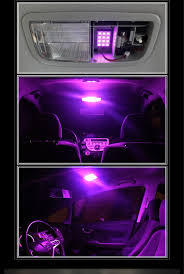 pink purple 12 smd led panels for car interior map dome light a35