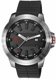 men s puma motorsport black silicone display watch pu103901001
