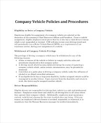 Company Vehicle Use Policy Rome Fontanacountryinn Com