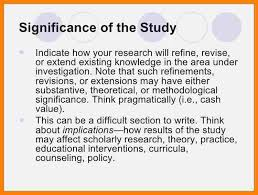 Significance Of The Study Sample.the Research Proposal Of Research ...