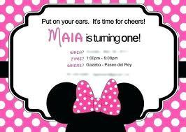 Minnie Mouse Birthday Template Danielmelo Info