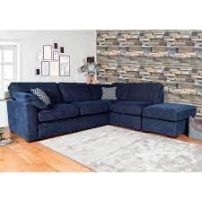 lorna navy fabric corner sofa costco uk