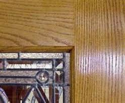 wood trim holding the glass pane