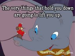 Dumbo Quotes Mesmerizing Timothy Q Mouse Quote On Being Held Down Lifting Yourself On In