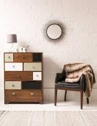 vintage furniture ideas. Furniture:Interior Design With Black Leather Chair Near Brown Vintage Wood Chest Drawer And Cone Furniture Ideas