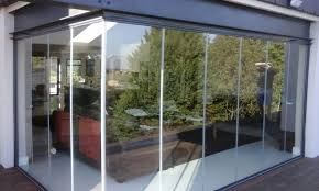 frameless glass system installed on deck