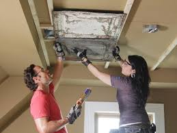 install stamped tin ceiling panels