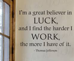 Amazon.com - Thomas Jefferson I'm a Great Believer in Luck ...