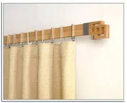 wood curtain rod brackets unfinished wooden allen roth 2 pack walnut