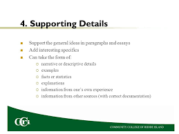 essays dr karen petit this presentation explains how to avoid  supporting details support the general ideas in paragraphs and essays add interesting specifics