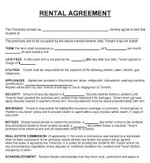 Rental Agreement Simple Commercial Lease Agreement Template Free Templates Lab Ertk
