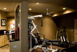 Interior:Cool SportBasement Gym Design Idea Cool SportBasement Gym Design  Idea