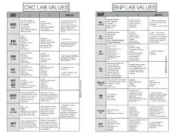 Nurse Charting Cheat Sheet 54 Extraordinary Normal Values Chart