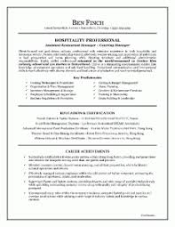 Resume Sample Canada Waiter Resume Examples For Letters Job