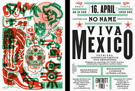 Mexican Style Graphic Design Viva Mexico Flyer Fonts In Use