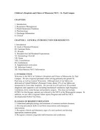 Nicu Resident Manual Associates In Newborn Medicine