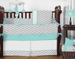 turquoise and gray bedding. Beautiful Gray Turquoise And Gray Chevron Zig Zag Baby Bedding  9 Pc Crib Set By Sweet  Jojo To And