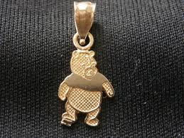 disney winnie the pooh 14k yellow gold pendant charm make offer 754