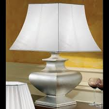 ... Modest Decoration Large Table Lamps Clever Design Ideas Silver Lamp  With Tapered Ivory Shade ...