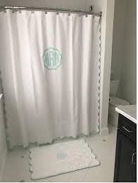 matouk monogrammed le scallop shower curtain matouk newport shower curtain