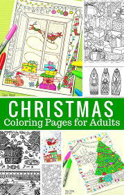 Free Printable Christmas Coloring Pages For Adults Easy Peasy And Fun