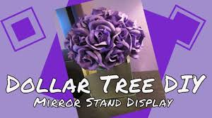 Mirrored Display Stands Dollar Tree DIY Mirror Stand Display YouTube 81