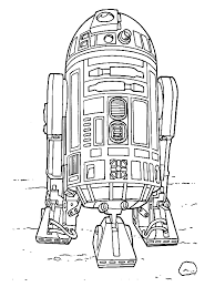 Small Picture Star Wars Coloring Pages R2d2 Coloring Home