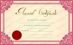 Achievement Awards Certificates Templates Best Achievement Award Certificate Template