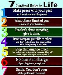 40 Cardinal Rules In Life Quotes And Sayings New 7 Rules Of Life Quote
