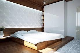 bedroom modern white. Appealing Design Of The White Wall Ideas With Brown Wooden Bed And Floor As Bedroom Modern