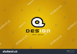 design of bold alphabet letter q with white color and black contour on  yellow background suitable