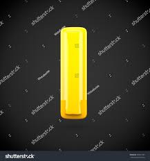 Yellow Color Paint Letter L Lowercase Stock Illustration 585819197