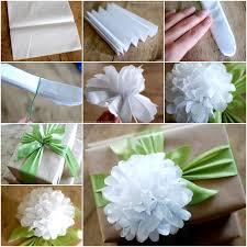 Tissue Paper Flower Tutorials Diy Easy Tissue Paper Flower Gift Topper