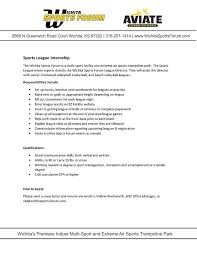 Sports Management Cover Letters Internship Opportunities