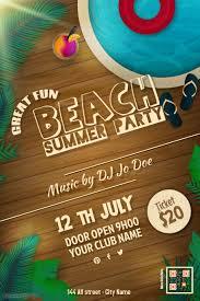 Beach Flyer 18 150 Customizable Design Templates For Summer Beach Party