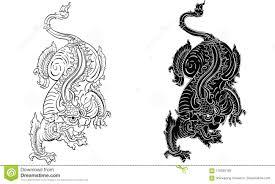 тайская традиционная татуировка тайская традиционная картина в