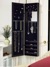 wall mount jewelry armoire mirror. 1) Plaza Astoria Wall/Door Mount Jewelry Armoire Wall Mirror R
