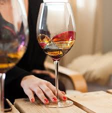 antoni barcelona hand painted large wine glass