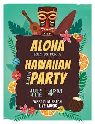 Luau Flyer Luau Party Hawaii Invitation Flyer Poster Template Luau Party