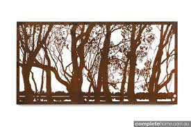 the murray window from entanglements has a beautiful laser cut design that is complemented by its natural rust finish description from completehome au  on laser cut wall art metal with the murray window from entanglements has a beautiful laser cut
