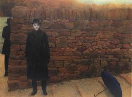 Image result for person standing by a wall