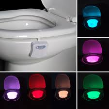 toilet lighting. 8 Colors LED Toilet Light Motion Sensor Activated Bathroom Night Lamps Bowl Creative Lighting