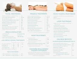 Spa Services Brochure