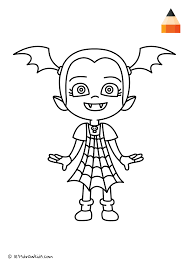 This traveling artist marker roll and coloring kit is perfect for keeping your child occupied wherever you are! New Coloring Page Vampirina Coloring Pages Leri Co Halloween Para Colorear Dibujos Halloween Colorear Imprimir Dibujos Para Colorear