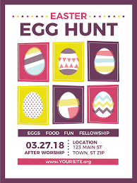 Church Easter Egg Hunt Flyer Progressive Church Media