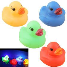 Light Up Rubber Duck Amazon Com Dream_light Pack Of 4 Light Up Ducks Bath Toys