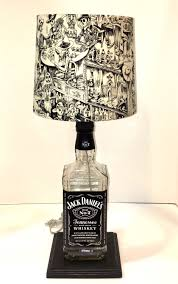 liquor bottle crafts liquor bottle lamps wine bottle lighting wine bottles jack daniels bottle jack daniels lamp diy lamps table lamps bottle art