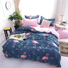 flamingo duvet cover new cartoon pink flamingo bedding sets geometric pattern bed linings duvet cover bed