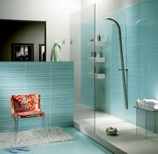 Small Blue Bathrooms Small Light And Darker Blue Mosaic Tiles Mosaic Tiles For