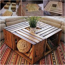 how to diy coffee table from recycled wine crates